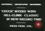 Image of Chuck Myers auto race Pikes Peak Colorado USA, 1931, second 3 stock footage video 65675022467