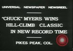 Image of Chuck Myers auto race Pikes Peak Colorado USA, 1931, second 4 stock footage video 65675022467