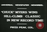Image of Chuck Myers auto race Pikes Peak Colorado USA, 1931, second 6 stock footage video 65675022467