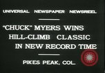 Image of Chuck Myers auto race Pikes Peak Colorado USA, 1931, second 8 stock footage video 65675022467