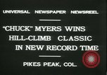 Image of Chuck Myers auto race Pikes Peak Colorado USA, 1931, second 9 stock footage video 65675022467