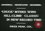 Image of Chuck Myers auto race Pikes Peak Colorado USA, 1931, second 10 stock footage video 65675022467