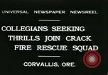 Image of Crack Fire Rescue Squad Corvallis Oregon USA, 1931, second 1 stock footage video 65675022468