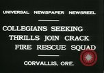 Image of Crack Fire Rescue Squad Corvallis Oregon USA, 1931, second 5 stock footage video 65675022468