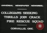 Image of Crack Fire Rescue Squad Corvallis Oregon USA, 1931, second 7 stock footage video 65675022468