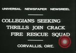 Image of Crack Fire Rescue Squad Corvallis Oregon USA, 1931, second 8 stock footage video 65675022468