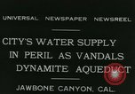 Image of Los Angeles Aqueduct Pipeline Jawbone Canyon, 1931, second 2 stock footage video 65675022470
