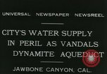 Image of Los Angeles Aqueduct Pipeline Jawbone Canyon, 1931, second 3 stock footage video 65675022470