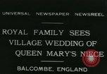 Image of Lady Mary Cambridge wedding Balcombe England United Kingdom, 1931, second 1 stock footage video 65675022471