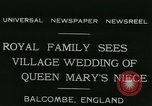 Image of Lady Mary Cambridge wedding Balcombe England United Kingdom, 1931, second 3 stock footage video 65675022471