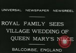 Image of Lady Mary Cambridge wedding Balcombe England United Kingdom, 1931, second 5 stock footage video 65675022471
