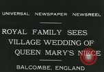 Image of Lady Mary Cambridge wedding Balcombe England United Kingdom, 1931, second 7 stock footage video 65675022471
