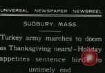 Image of rafter of turkey Sudbury Massachusetts USA, 1931, second 2 stock footage video 65675022473