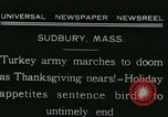 Image of rafter of turkey Sudbury Massachusetts USA, 1931, second 3 stock footage video 65675022473