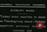 Image of rafter of turkey Sudbury Massachusetts USA, 1931, second 4 stock footage video 65675022473