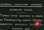 Image of rafter of turkey Sudbury Massachusetts USA, 1931, second 7 stock footage video 65675022473