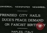 Image of Premier Benito Mussolini Naples Italy, 1931, second 6 stock footage video 65675022475