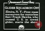 Image of Motor-less gliders Elmira New York USA, 1931, second 12 stock footage video 65675022477