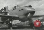 Image of American aircraft P-40 Wright Field Dayton Ohio USA, 1941, second 6 stock footage video 65675022496
