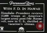 Image of President Franklin D. Roosevelt on USS Houston (CA-30) Honolulu Hawaii USA, 1934, second 3 stock footage video 65675022614