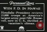 Image of President Franklin D. Roosevelt on USS Houston (CA-30) Honolulu Hawaii USA, 1934, second 4 stock footage video 65675022614