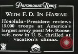 Image of President Franklin D. Roosevelt on USS Houston (CA-30) Honolulu Hawaii USA, 1934, second 5 stock footage video 65675022614