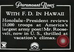 Image of President Franklin D. Roosevelt on USS Houston (CA-30) Honolulu Hawaii USA, 1934, second 6 stock footage video 65675022614