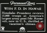 Image of President Franklin D. Roosevelt on USS Houston (CA-30) Honolulu Hawaii USA, 1934, second 7 stock footage video 65675022614