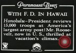 Image of President Franklin D. Roosevelt on USS Houston (CA-30) Honolulu Hawaii USA, 1934, second 8 stock footage video 65675022614