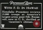 Image of President Franklin D. Roosevelt on USS Houston (CA-30) Honolulu Hawaii USA, 1934, second 9 stock footage video 65675022614