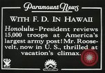 Image of President Franklin D. Roosevelt on USS Houston (CA-30) Honolulu Hawaii USA, 1934, second 10 stock footage video 65675022614