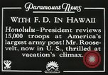 Image of President Franklin D. Roosevelt on USS Houston (CA-30) Honolulu Hawaii USA, 1934, second 11 stock footage video 65675022614