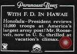 Image of President Franklin D. Roosevelt on USS Houston (CA-30) Honolulu Hawaii USA, 1934, second 12 stock footage video 65675022614