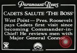 Image of President and Mrs. Franklin D. Roosevelt visiting U.S. Military Academ West Point New York USA, 1934, second 6 stock footage video 65675022615