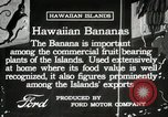 Image of Banana plantation Hawaii USA, 1916, second 6 stock footage video 65675022624