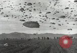 Image of Massive air drop by 187th Airborne Regimental Combat Team Korea, 1951, second 12 stock footage video 65675022693