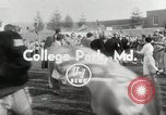 Image of College football game College Park Maryland USA, 1953, second 6 stock footage video 65675023024