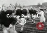 Image of College football game College Park Maryland USA, 1953, second 7 stock footage video 65675023024