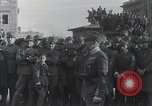 Image of Gabriele D'Annunzion welcomed as he enters Fiume Fiume Croatia, 1919, second 4 stock footage video 65675023056