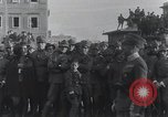 Image of Gabriele D'Annunzion welcomed as he enters Fiume Fiume Croatia, 1919, second 10 stock footage video 65675023056