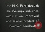 Image of Appalachian handcrafts Boone North Carolina USA, 1934, second 4 stock footage video 65675023108