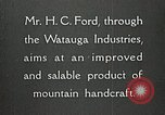 Image of Appalachian handcrafts Boone North Carolina USA, 1934, second 8 stock footage video 65675023108