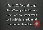 Image of Appalachian handcrafts Boone North Carolina USA, 1934, second 12 stock footage video 65675023108