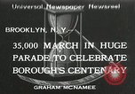 Image of Brooklyn Centenary celebration Brooklyn New York City USA, 1934, second 1 stock footage video 65675023139