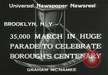 Image of Brooklyn Centenary celebration Brooklyn New York City USA, 1934, second 3 stock footage video 65675023139