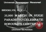 Image of Brooklyn Centenary celebration Brooklyn New York City USA, 1934, second 4 stock footage video 65675023139