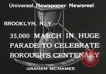 Image of Brooklyn Centenary celebration Brooklyn New York City USA, 1934, second 5 stock footage video 65675023139
