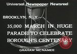 Image of Brooklyn Centenary celebration Brooklyn New York City USA, 1934, second 6 stock footage video 65675023139