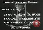 Image of Brooklyn Centenary celebration Brooklyn New York City USA, 1934, second 9 stock footage video 65675023139