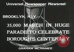 Image of Brooklyn Centenary celebration Brooklyn New York City USA, 1934, second 10 stock footage video 65675023139